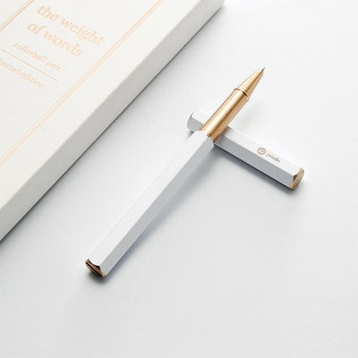 ystudio White Rollerball Pen (limited edition)