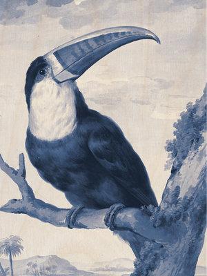 KEK Amsterdam print op hout Royal Blue Toucan