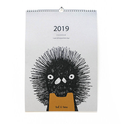 Ted & Tone A3 Kalender 2019