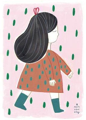 "Marta Abad Blay ""Girl Irene"" poster print A2"