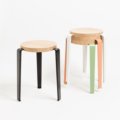 TIPTOE LOU Stool Oak
