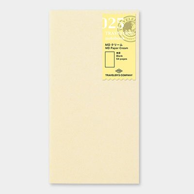 Travelers's notebook -  MD paper creme blanco refill 025