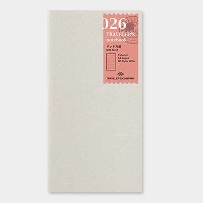 Travelers's notebook -  Dot Grid  MD paper white refill 026