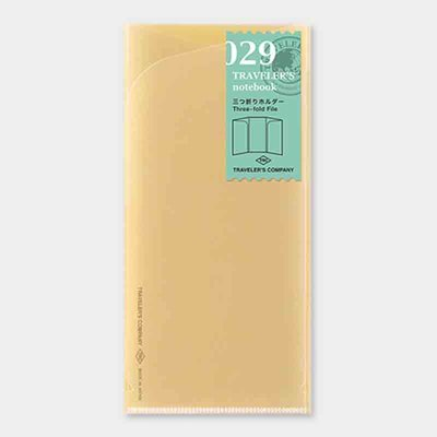 Travelers's notebook -  Three-fold file refill 029