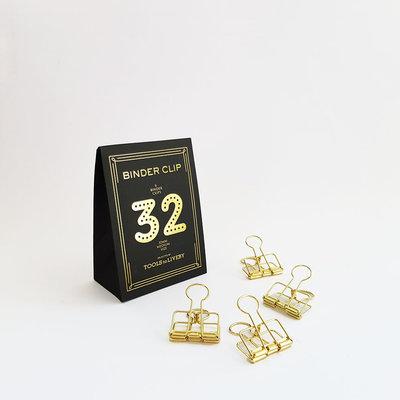 Tools to Liveby papier klemmetjes 32mm Goud