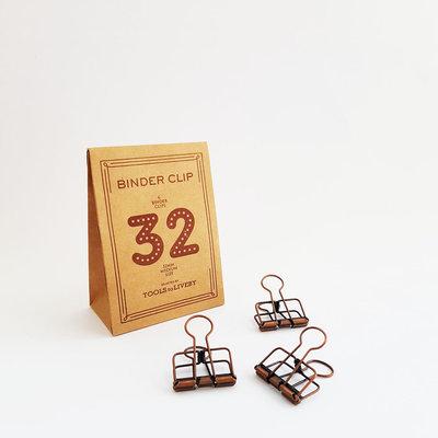 Tools to Liveby papier klemmetjes 32mm Bronze