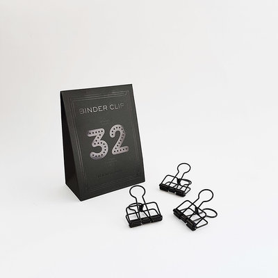Tools to Liveby Zwarte papier klemmetjes 32mm