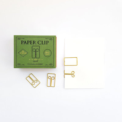 Tools to Liveby Brass Owl Paperclips