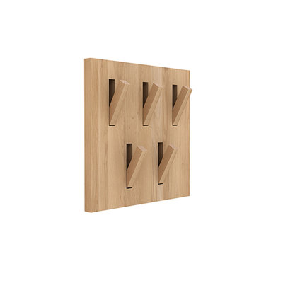 Ethnicraft Utilitile Hooked coat rack in oak or teak
