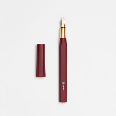 ystudio Resin Fountain Pen Red