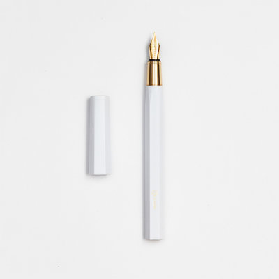 ystudio Resin Fountain Pen White