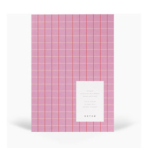 Notem studio Notebook Vita  medium rose grid