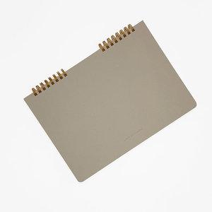 O-check design graphics ring memo notebook dot grid
