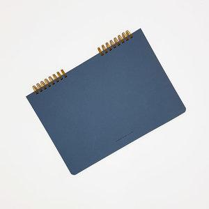 O-check design graphics ring memo notebook plain