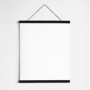 Liljebergs black oak magnetic poster hanger A4