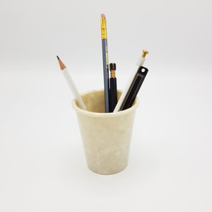Hightide marbled pen cup white