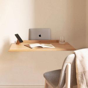 Woodendot Alada floating folding desk natural oak