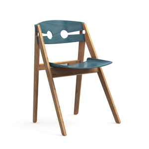 We Do Wood dining chair blue