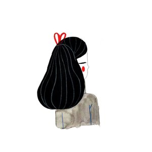 Girl A4 original drawing Marta Abad Blay