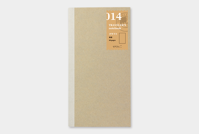 Travelers Notebook Refill 014 kraft paper