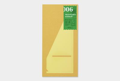Traveler's notebook pocket sticker L refill 006