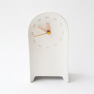 staand klokje studio H+E wit