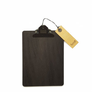 ferm living black stained wood clipboard A5