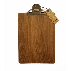 ferm living smoaked oak clipboard A4