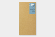 Traveler's notebook refill 020 kraft paper folder